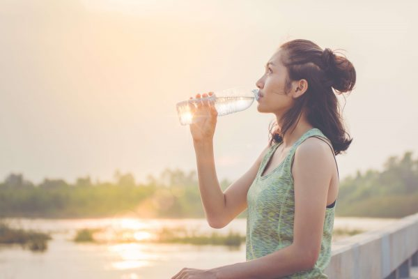 Woman-keeping-hydrated